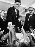 President John F. Kennedy, During His Western Trip to Inspect Dams and Power Projects Photographic Print by John Loengard