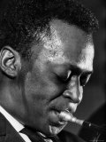 Jazz Musician Miles Davis Performing Metal Print by Robert W. Kelley