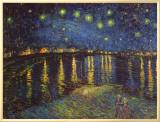 Noite Estrelada Sobre o Ródano, c.1888 Impressão em tela emoldurada por Vincent van Gogh