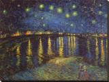 ローヌ河畔の星空(1888年) キャンバスプリント : フィンセント・ファン・ゴッホ