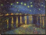 Starry Night over the Rhone, c.1888 Stretched Canvas Print by Vincent van Gogh