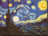 Stjärnklar natt, 1889 Sträckt Canvastryck av Vincent van Gogh