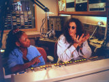 Controversial Radio Disc Jockey and Talk Show Host Howard Stern and Sidekick Robin Quivers Premium Photographic Print by Ted Thai