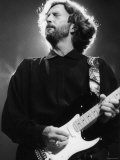 Rock Star Eric Clapton Playing His Guitar in Concert at the Meadowlands Arena Premium Photographic Print
