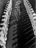 Inspection of Neatly Lined Up Personnel Aboard US Submarine at New London Submarine Base Photographic Print by Edward J. Steichen