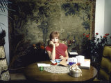 Shirley MacLaine in Her Apartment with Birthday Gifts Premium Photographic Print by Ted Thai