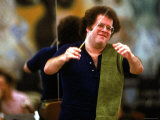 Metropolitan Opera Conductor James Levine in Rehearsal Premium Photographic Print by Ted Thai