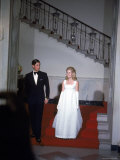 England&#39;s Prince Charles and Tricia Nixon, Daughter of the Us President Premium Photographic Print by Stan Wyman