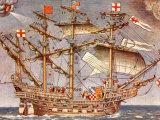 English Fleet's Flag Ship for Spanish Armada Campaign, the 38 Gun Frigate Sailing Ship Ark Royal Premium Photographic Print