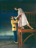 "Larry Kert and Carol Lawrence in Fire Escape Scene from ""West Side Story."" Premium Photographic Print by Hank Walker"