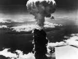Mushroom Cloud over Nagasaki After the Dropping of the 2nd Atomic Bomb by the US Air Force Premium Photographic Print