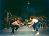 "Rumble Scene Between Rival Gangs in Play, ""West Side Story."" Premium Photographic Print by Hank Walker"
