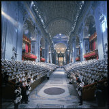 St. Peter's Basilica During the 2nd Vatican Ecumenical Council of the Roman Catholic Church Photographic Print by Hank Walker