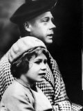 Duke of Windsor with Niece Elizabeth, Future Queen of England Premium Photographic Print