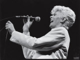David Bowie Performing at Madison Square Garden Premium Photographic Print
