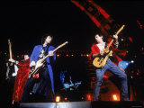 Ron Wood, Mick Jagger and Keith Richards During a Performance by the Rolling Stones Metal Print