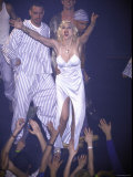 Madonna Performing at Her Pajama Party Premium Photographic Print