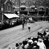 Italy's Dorando Pietri in Action During the Marathon Race at the 1908 Olympic Games Premium Photographic Print
