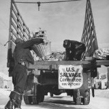 Levene Junk Truck, in Association with Salvation Army and Volunteers of America Photographic Print by William Vandivert