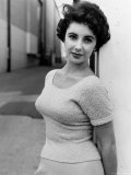 Elizabeth Taylor Outside of Sound Stages during Filming of A Place in the Sun Premium Photographic Print by Peter Stackpole
