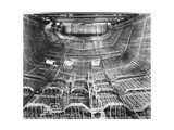 Network of Metal Rods Woven Together Inside Stern at Great Northern Concrete Shipbuilding Co Premium Photographic Print by Gordon Stuart