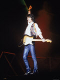 Ron Wood During a Performance by the Rolling Stones Premium Photographic Print