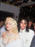 Madonna and Michael Jackson at the Academy Awards Reproduction photographique Premium