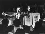 Paul Anka with His Arms in the Air during His Premiere Performance at the Copacabana Nightclub Premium Photographic Print by Peter Stackpole
