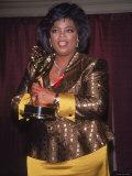 Talk Show Host Oprah Winfrey Holding Emmy Award Premium Photographic Print