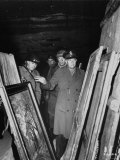 Gen. Dwight D. Eisenhower, Supreme Allied Commander, Inspecting Art Treasures Stolen by Germans Premium Photographic Print