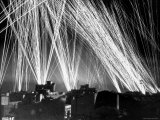 Display of Light from Ack Ack Strafing Fire During Night Air Raid on Algiers by German Air Forces Reproduction photographique sur papier de qualité par W.r. Wilson