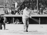 "Baseball Player George Herman ""Babe"" Ruth at Bat Premium Photographic Print"