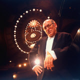 Composer Michael Nyman at Brooklyn Academy of Music Premium Photographic Print by Ted Thai