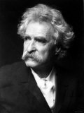 Excellent Portrait of American Author Samuel Langhorne Clemens, aka Mark Twain Premium Photographic Print