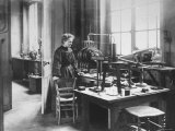 Chemist Marie Curie in Her Laboratory Premium Photographic Print