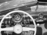Instrument Panel of New Ford Sedan, Having Big Speedometer and Minimal Ornamentation Premium Photographic Print by William Sumits