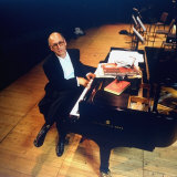 Composer Michael Nyman at Piano at Brooklyn Academy of Music Premium Photographic Print by Ted Thai