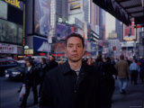 Malcolm Gladwell in Times Square Premium Photographic Print by Ted Thai