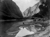 The Heart of Lodore, Green River, Shows Frederick S. Dellenbaugh Sitting Alone Photographic Print