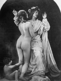 Classically Inspired Tableau Including Female Nudity, by Unidentified Victorian Photographer Photographic Print