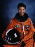 Astronaut Mae Jemison, First African American Woman in Space as Sts 47 Endeavour Mission Specialist Premium Photographic Print