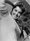 Hollywood's Mermaid Esther Williams Outdoors for Publicity Still Premium Photographic Print