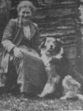 Beatrix Potter with Herding Dog, Photographic Print