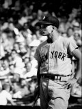 Good Informal Portrait NY Yankees Right Fielder Roger Maris Leaning on Bat During All Star Game Metal Print by Stan Wayman