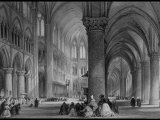 Interior of Cathedral of Notre Dame, from France Illustrated, with Drawings by Thomas Allom Premium Photographic Print