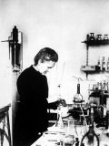 Chemist Marie Curie at Work in Her Laboratory Premium Photographic Print