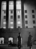 Soldiers Guard in Front of War Department Building as President Franklin D. Roosevelt Gives Speech Premium Photographic Print by George Strock