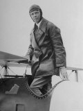 Charles Lindbergh Make His Departure Back to Paris Following His Flight to Croydon Airport Premium Photographic Print