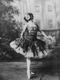 Signed Portrait of Russian Ballet Dancer Anna Pavlova Striking Pose on Stage at the Imperial Palace Premium Photographic Print