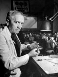 Professor Alexander Fleming Working in Laboratory Premium Photographic Print by Hans Wild